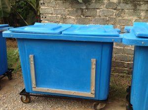 thùng rác 660 lít composite 660 lít