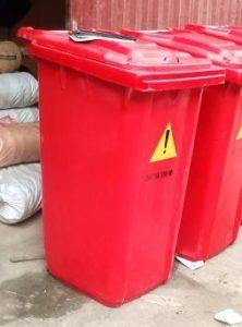 thùng rác 240 lít composite mầu đỏ