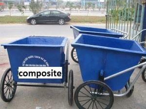 xe gom rác composite