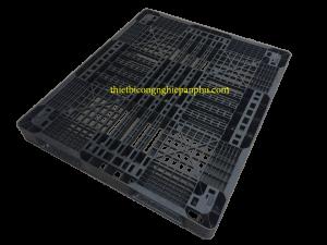 Pallet nhựa cũ KT 1100x1300x120 mm