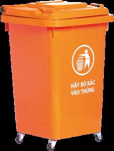 thùng rac 60 lit nap kin
